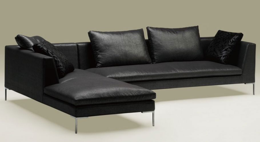 arm chaise sectional sofa in faux leather4