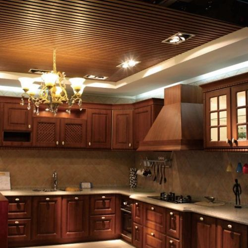 WPC Ceiling in Kitchen