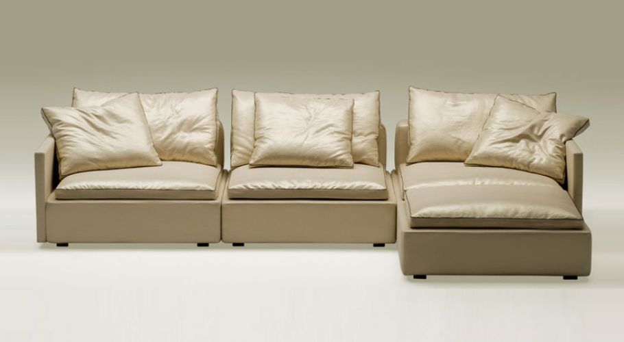 arm chaise sectional sofa in faux leather5