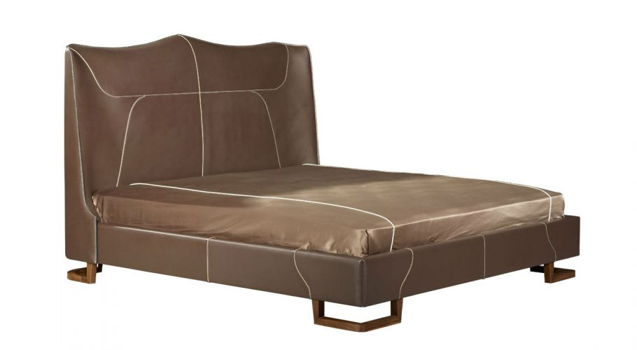 english cottage classic-wing back leather bed